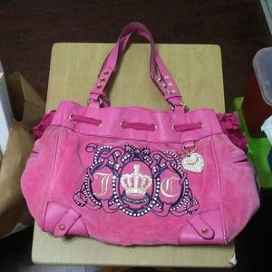 Juicy Couture pink velour purse